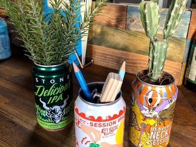 ビールの空き缶、いろいろなところに使っています!