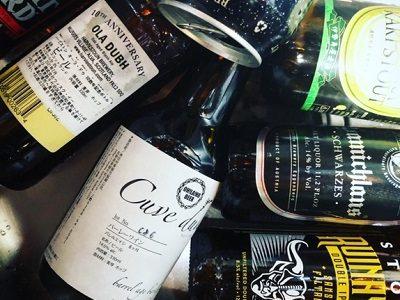 今月の試飲学習会、黒系ビールもさまざまある!